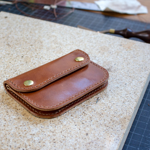 Leather Mini Trucker Wallet Acrylic Template Set