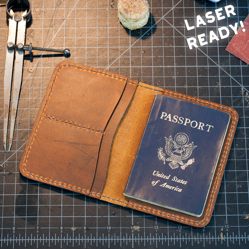 Leather Passport Case (Laser Ready Files)