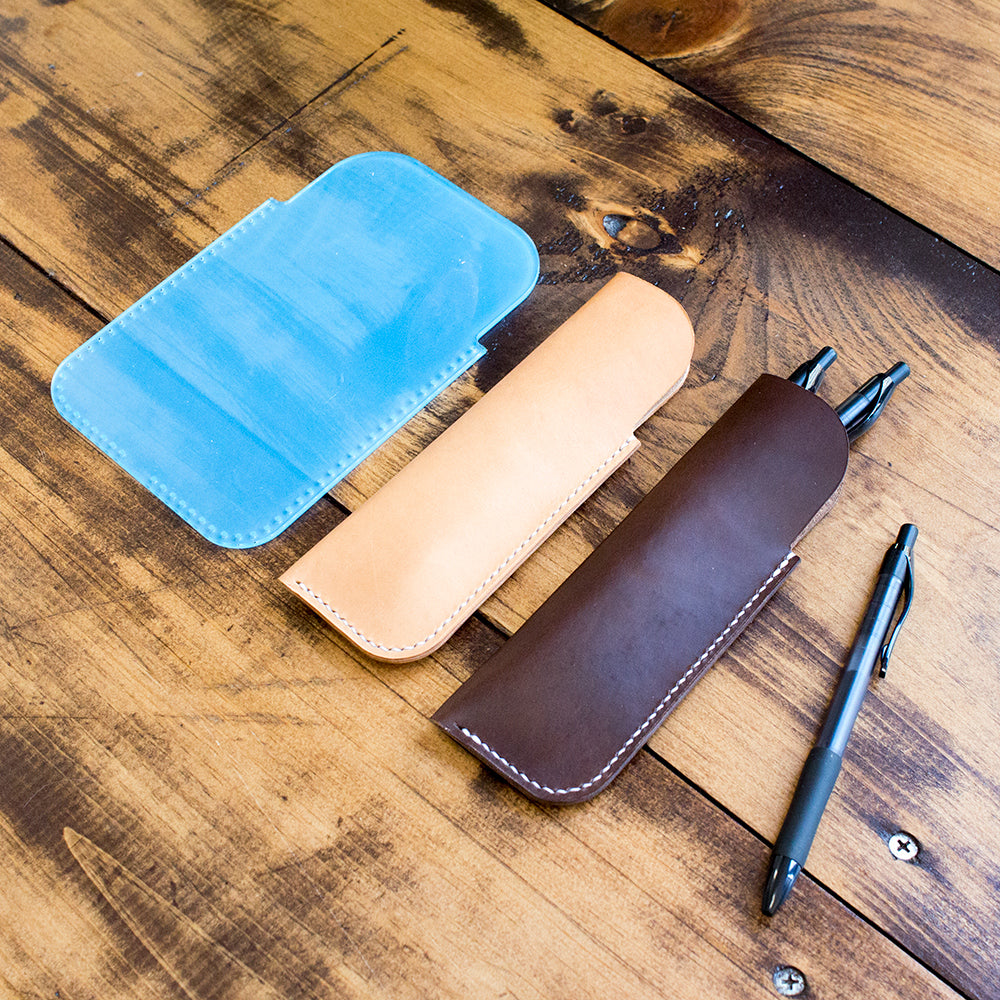 Leather Pen Sleeve Acrylic Template (with holes)