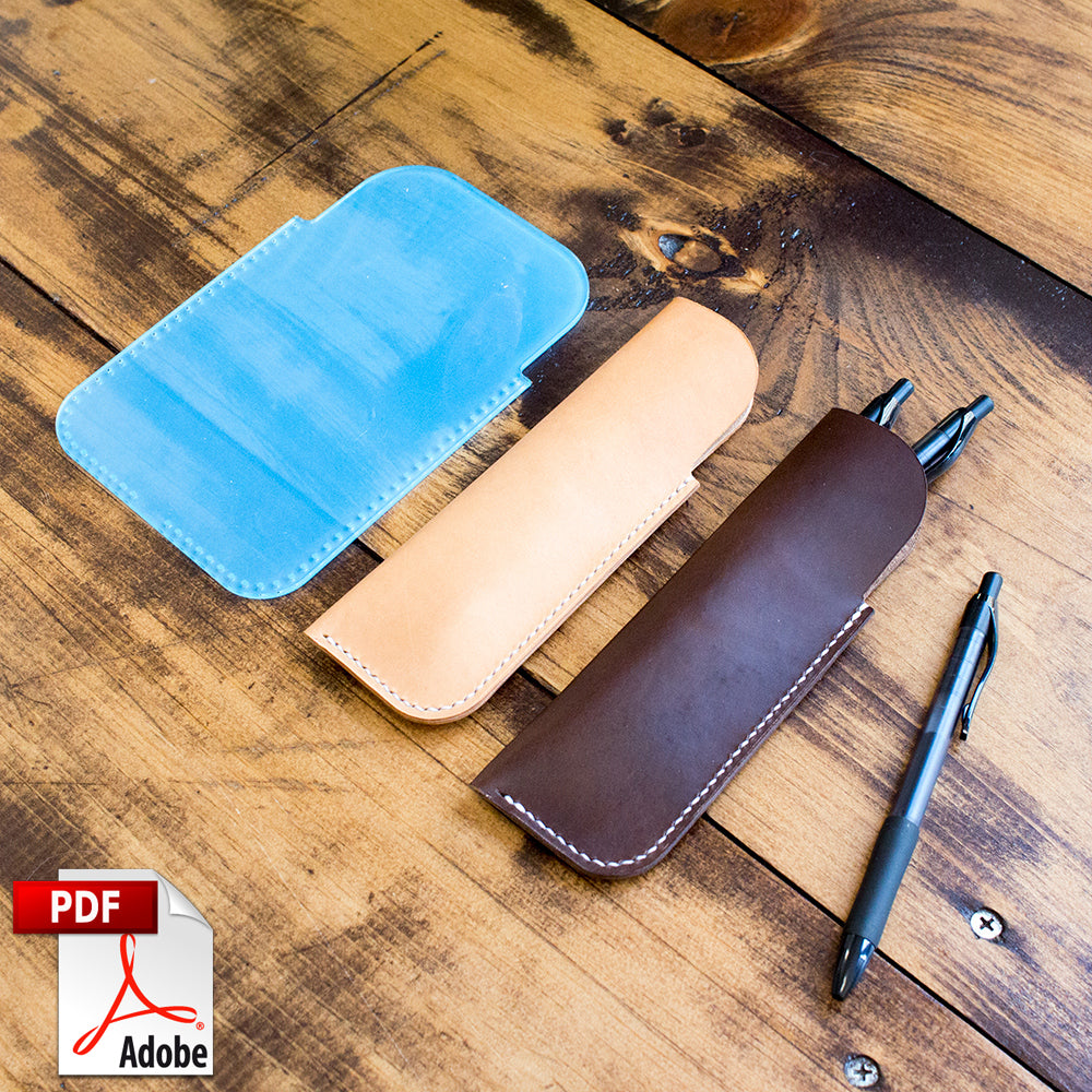 Leather Pen Sleeve PDF Template (A4)