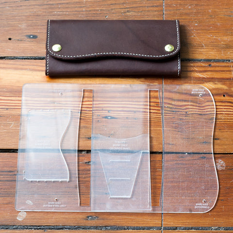 Roper Long Wallet Acrylic Template Set