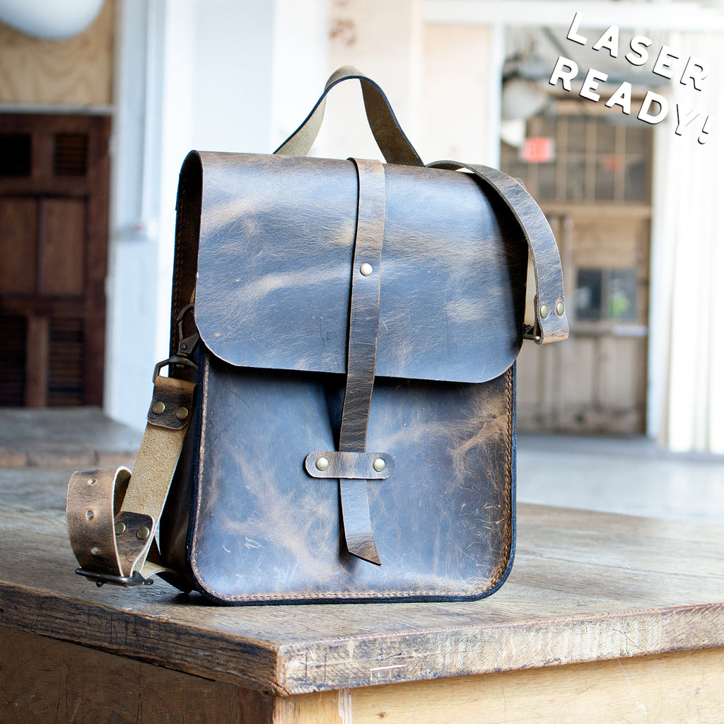 Simple Leather Map Case Satchel (Laser Ready Files)