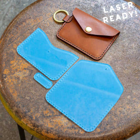 Leather Keychain Snap Wallet (Laser Ready Files)