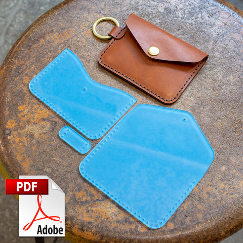 Keychain Snap Wallet Digital Template (8.5 x 11)