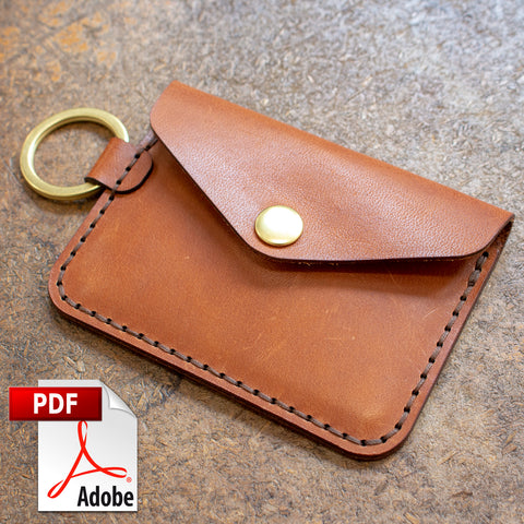 Keychain Snap Wallet Digital Template Set (A4)