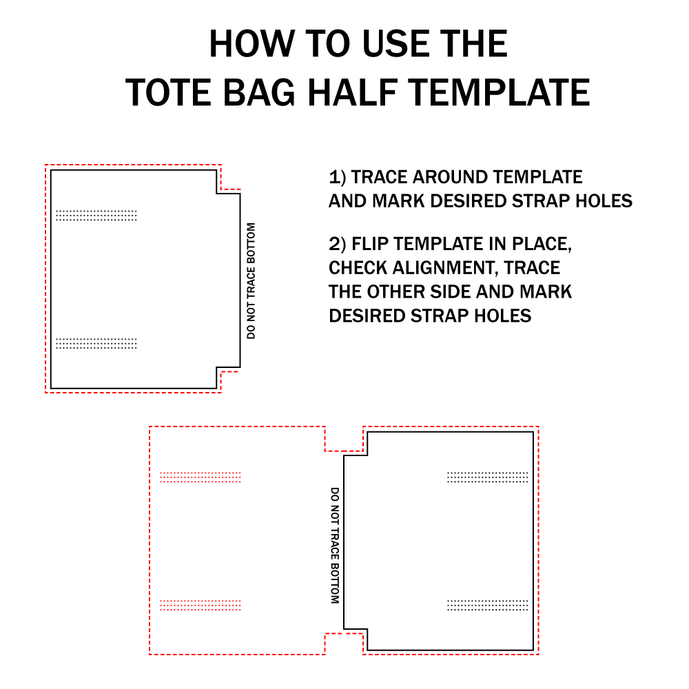 basic leather tote bag acrylic template set makesupply