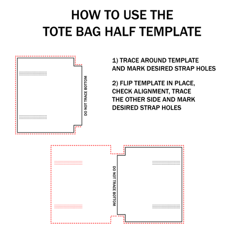 Basic Leather Tote Bag Acrylic Template Set