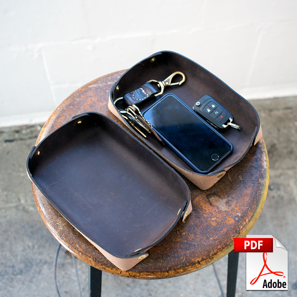 Leather Valet Tray Digital PDF Template (8.5 x 11)