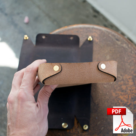 Leather Valet Tray Digital PDF Template (A4)