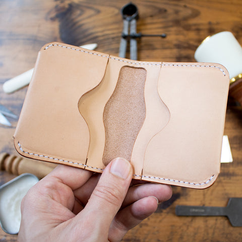 Leather Double Folded Card Holder (Laser Ready Files)
