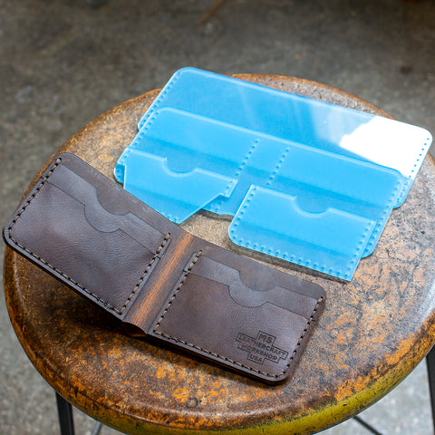 Rustic Leather Bi-Fold Wallet Acrylic Template Set