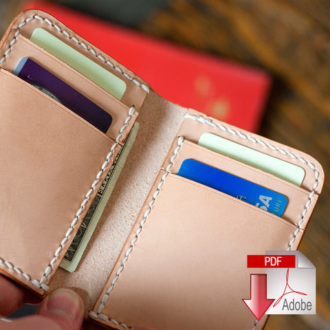 Vertical 6 Pocket Wallet Digital PDF Template (A4)