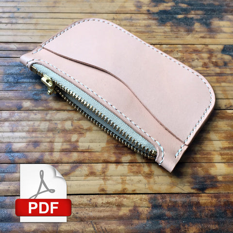 Simple Zipper Pouch Digital PDF Template (8.5 x 11)