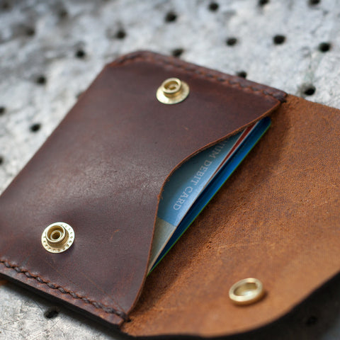 Leather Folded Snap Wallet (Laser Ready Files)