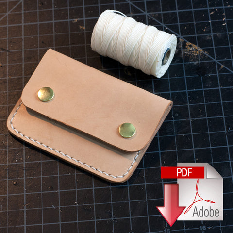 Leather Snap Wallet Digital Template (8.5 x 11)