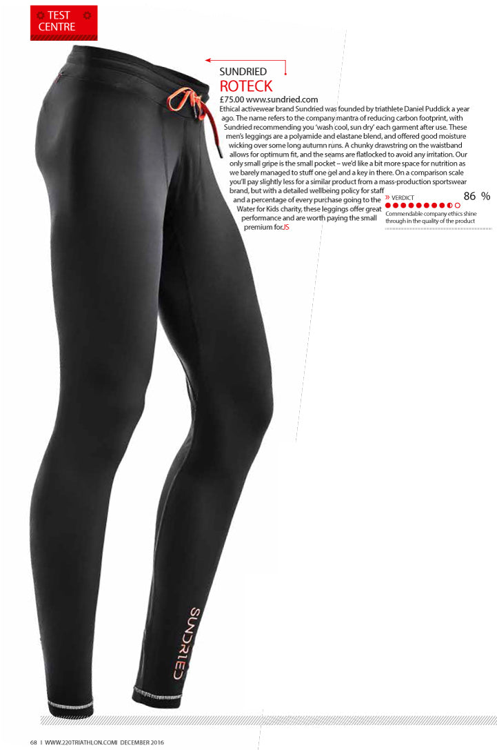 Sundried Leggings in Review at 220 Triathlon