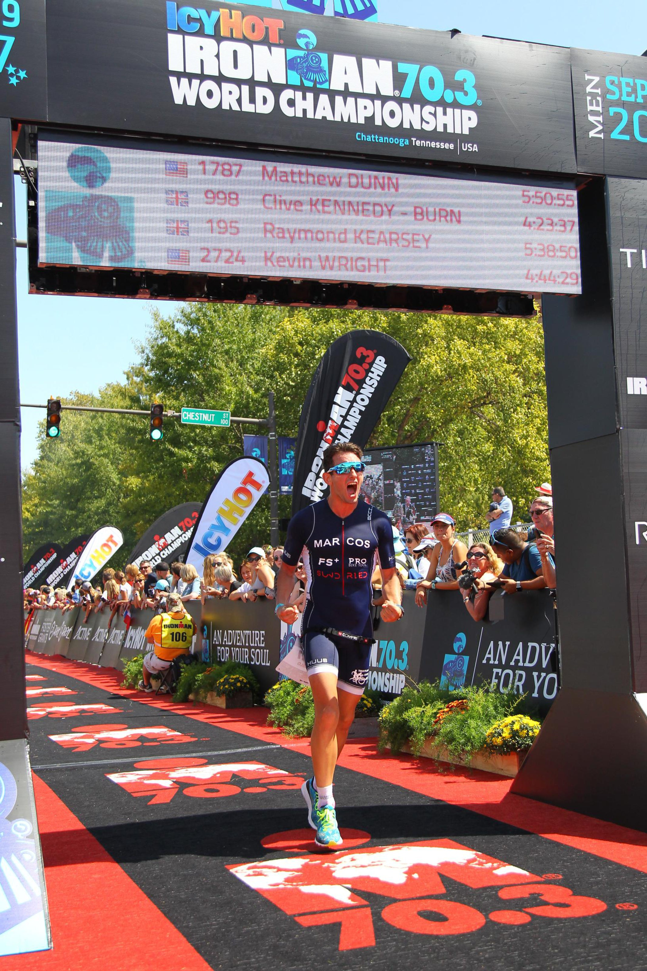 Ironman 70.3 World Championship Finish Line Racing