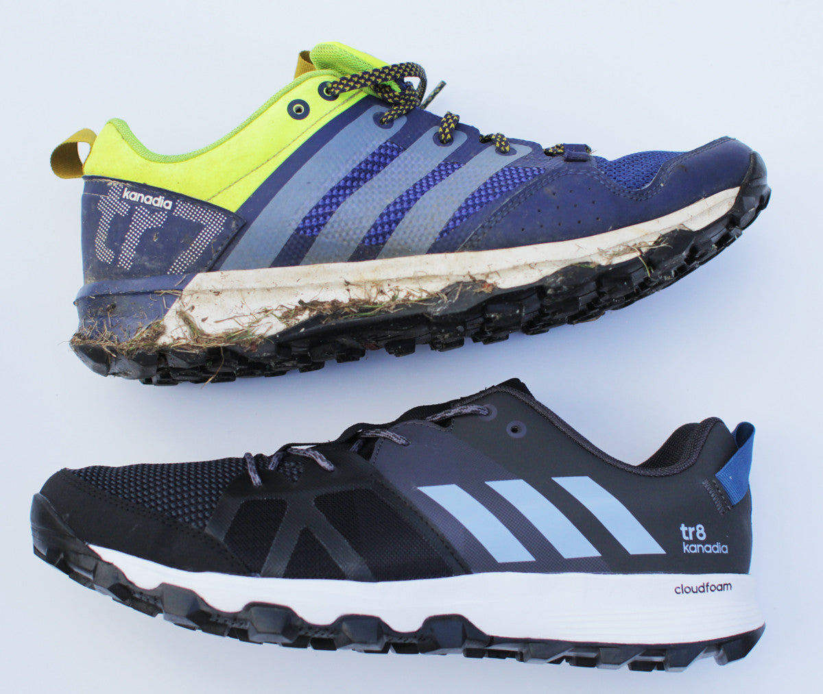 adidas Kanadia 7 and 8 side by side