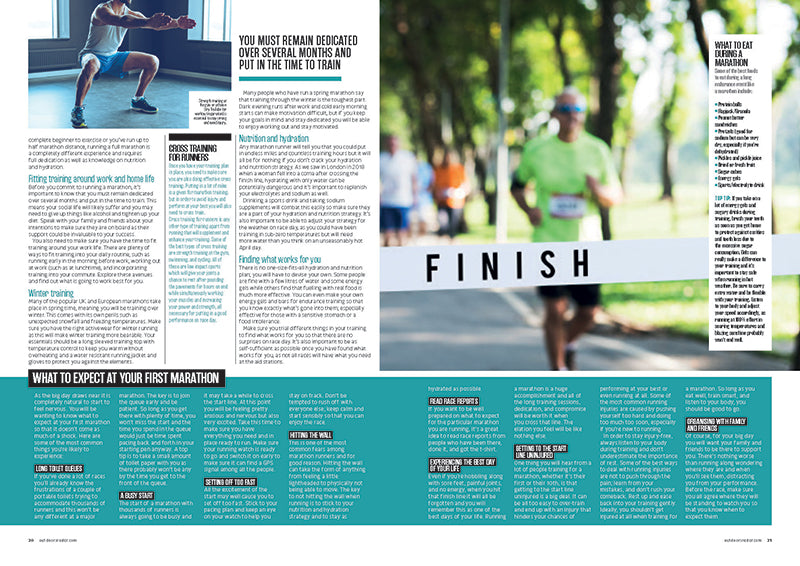 Marathon Guide in Outdoor Fitness Magazine