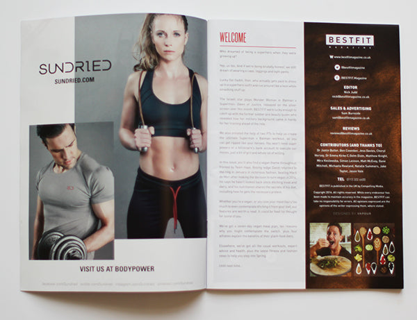 Sundried Inside Front Cover in BestFit Issue 19