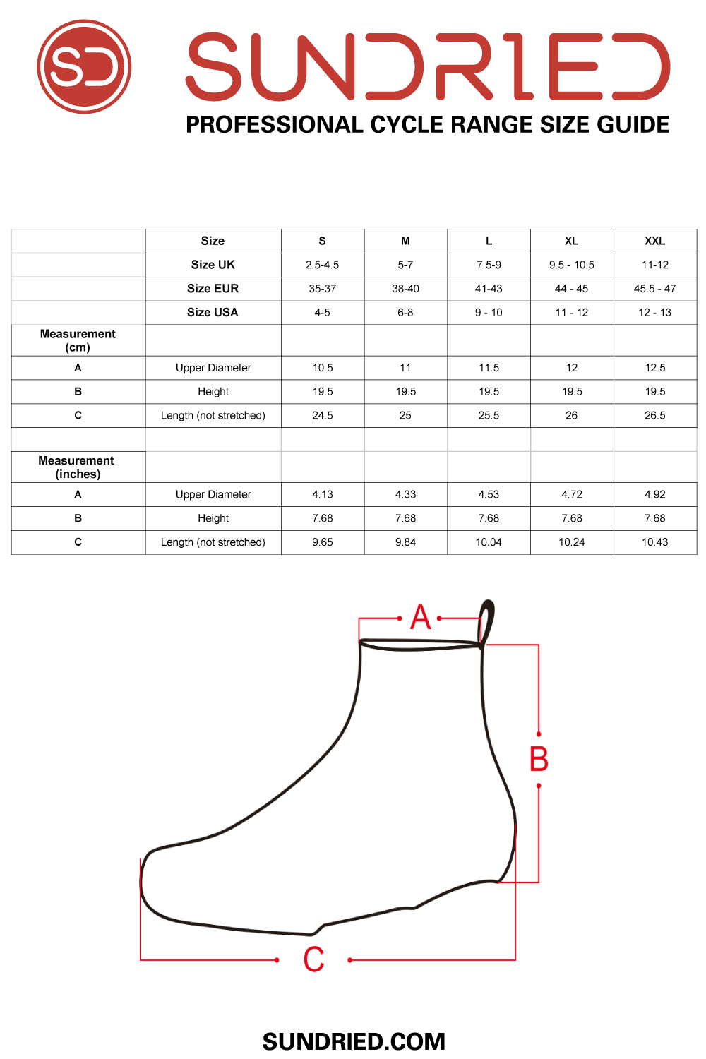 Cycle Overshoes Fitting Guide