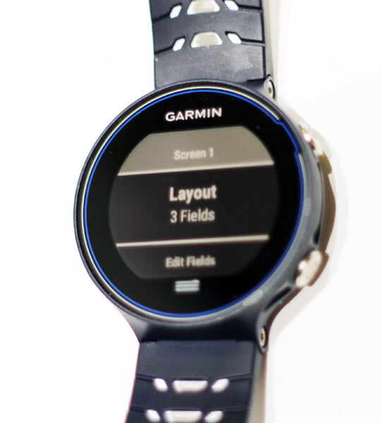 Garmin Forerunner 630 Screen Set-Up