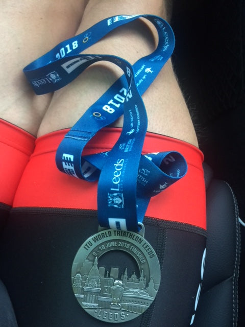 ITU World Triathlon Series Leeds finisher Sundried ambassador