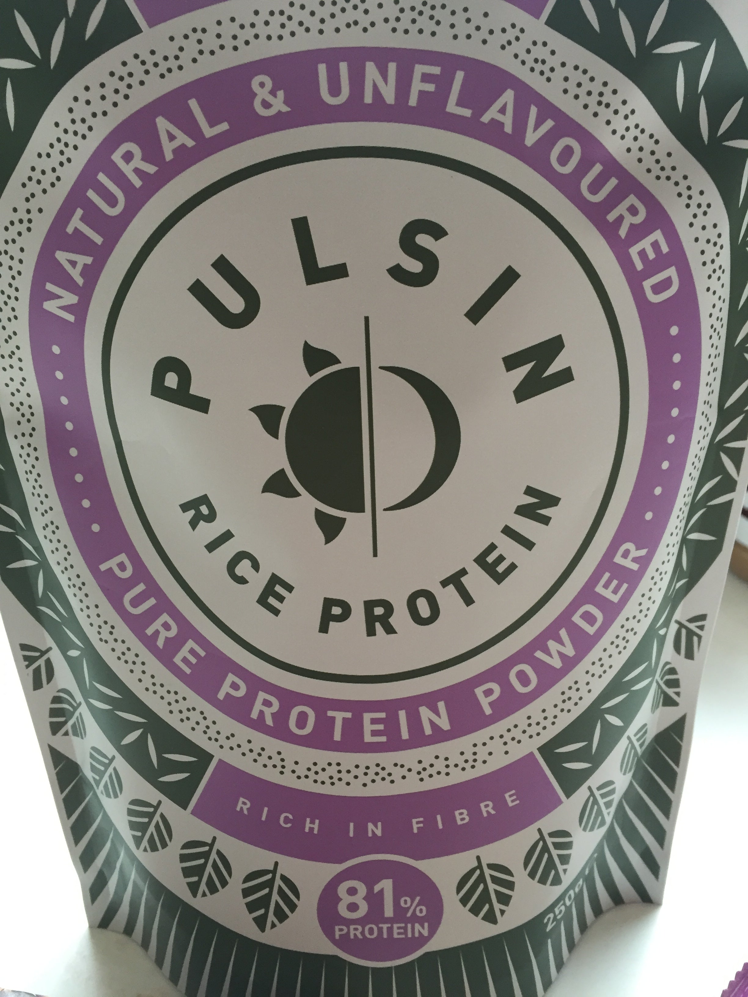 Pulsin rice protein vegan plant based