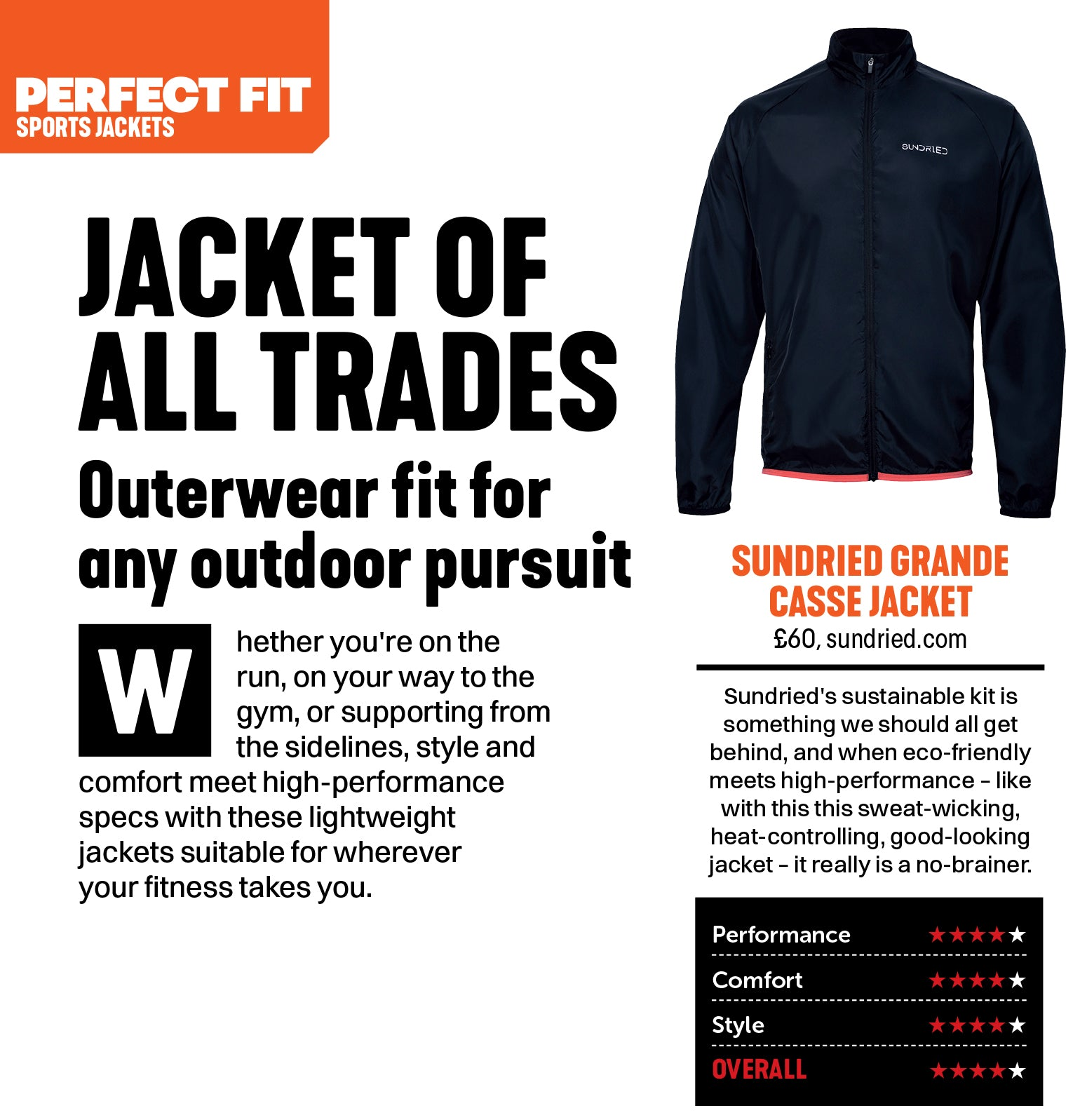 Mens Fitness Featuring Sundried Waterproof Running Jacket