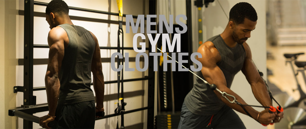 Mens gym clothes vest muscle tank train fitness clothing for men
