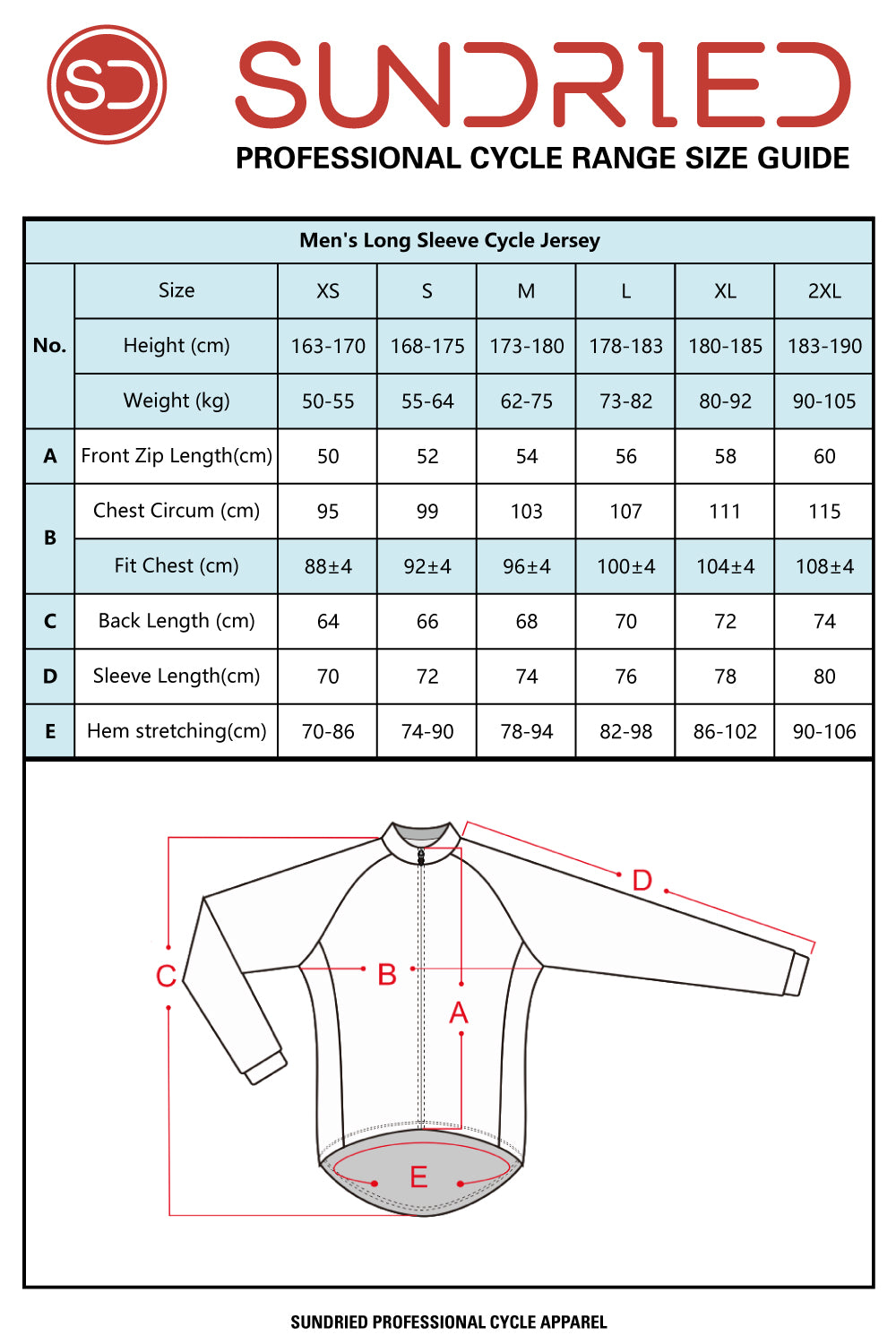 Sundried Cadence Men's Long Sleeve Jersey