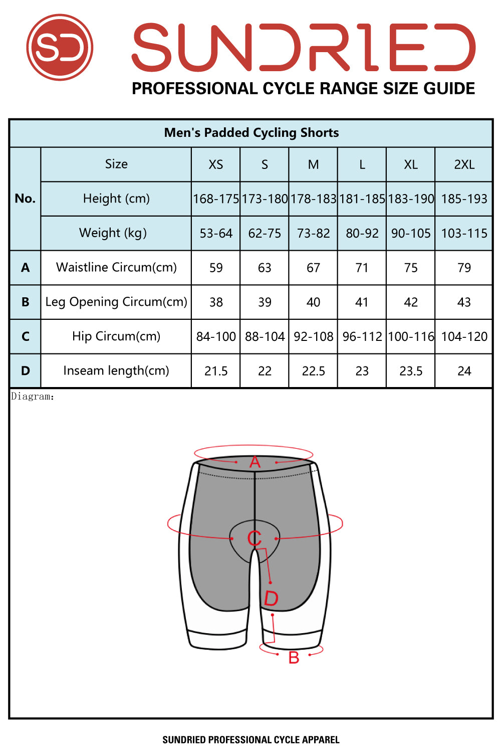 Sundried Peloton men's padded cycle shorts