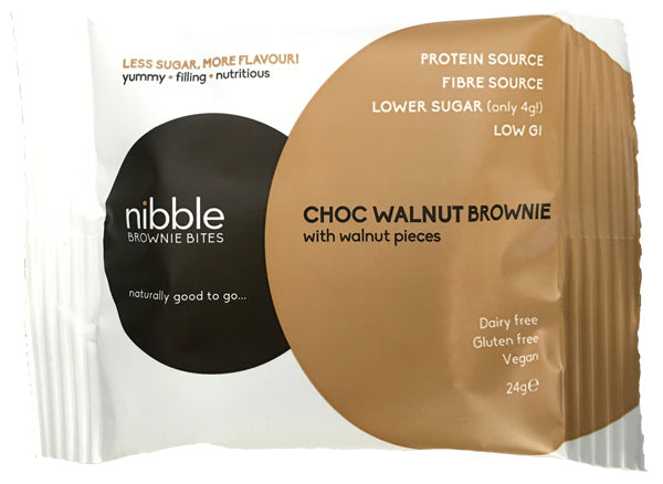 Nibble Protein choc walnut brownie review