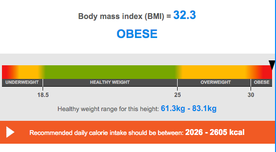 Obese BMI Calculation