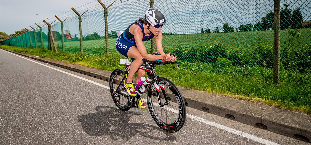 Professional athlete taking part in Sundried Triathlon