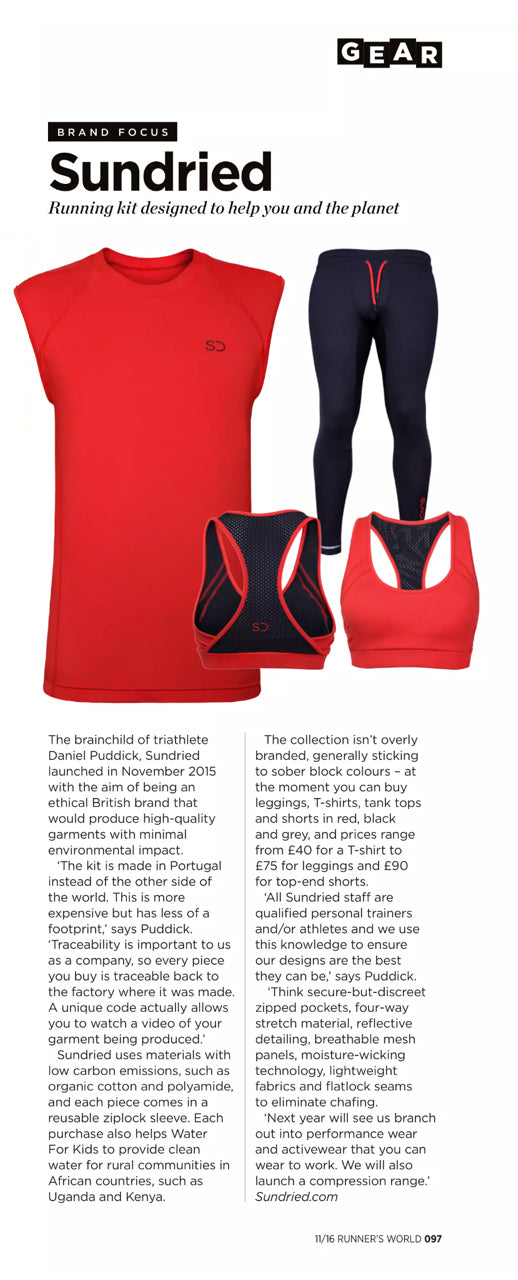 Runners World Featuring Sundried November 2017