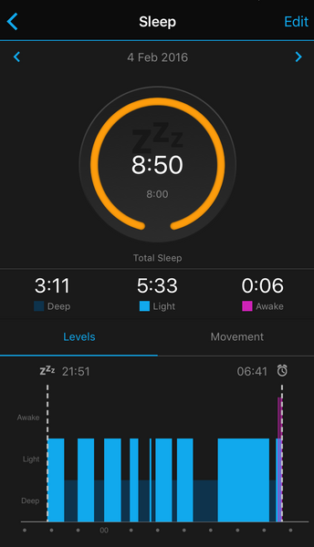 Sleep Tracking with the Forerunner 235