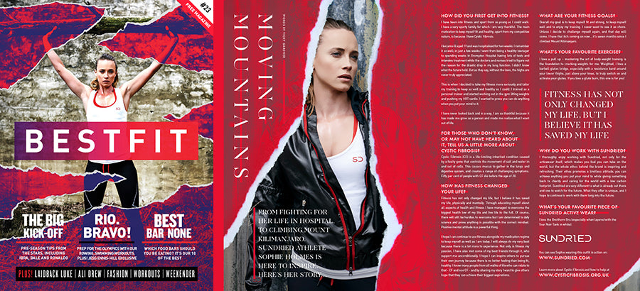 Sophie Cover and Feature for Bestfit Magazine
