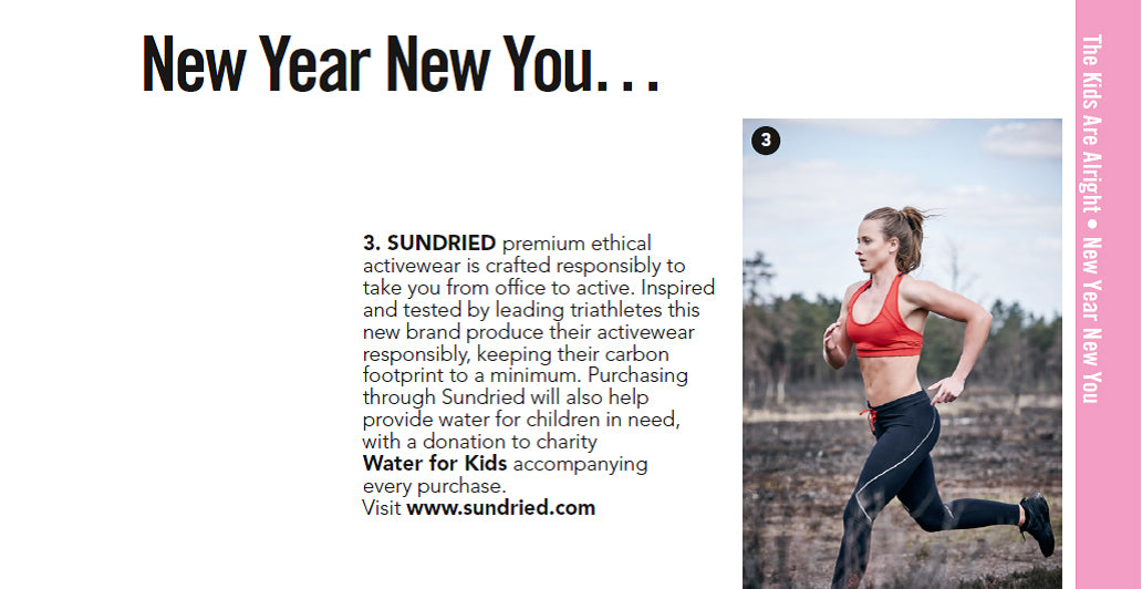 Sundried Activewear New Year New You in Glamour