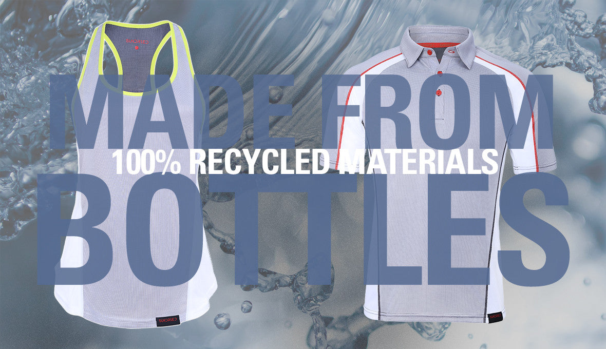 Activewear made from recycled plastic bottles