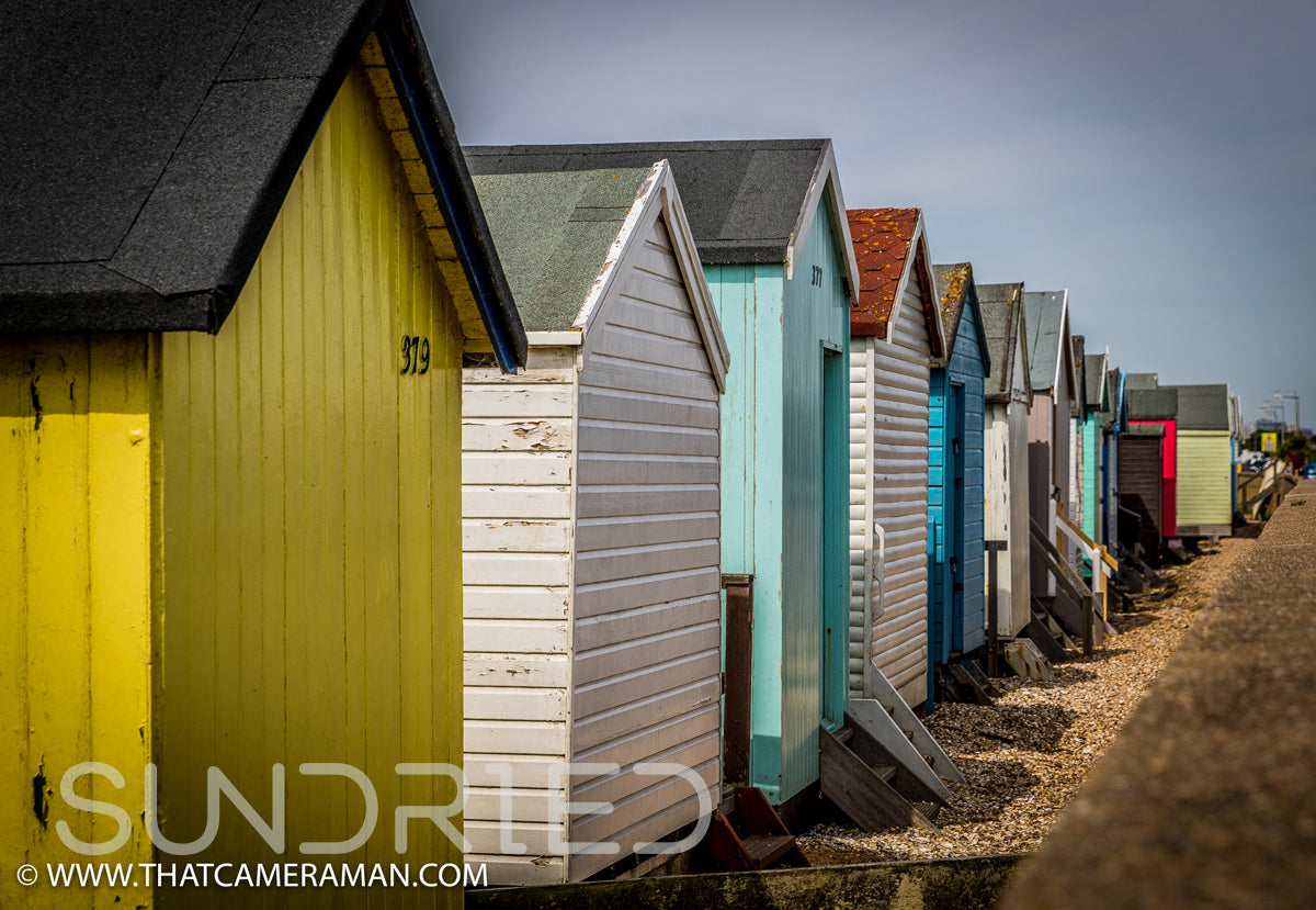 Southend On Sea Essex Shoebury Thorpe Bay Southchurch beach huts thames estuary