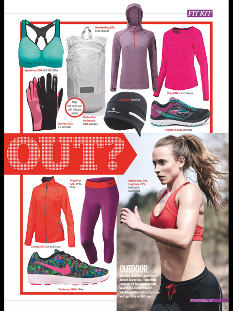 Fit and Well Magazine Featuring Sundried Sports Bra