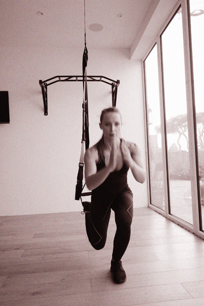 TRX Burpee Starting Position