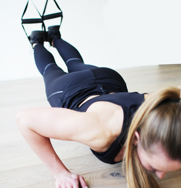 TRX Pushup Down Position