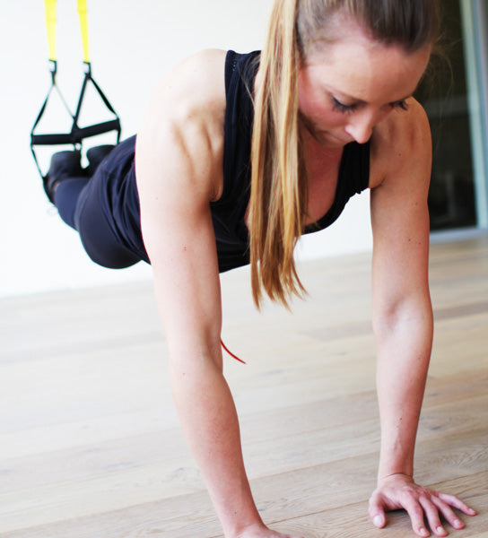 TRX Pushup Up Position