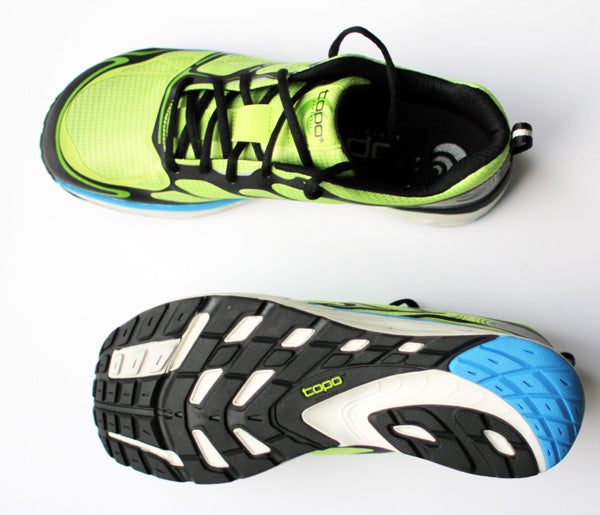 Top y suela de zapatilla de running Topo Athletic Fli-Lyte