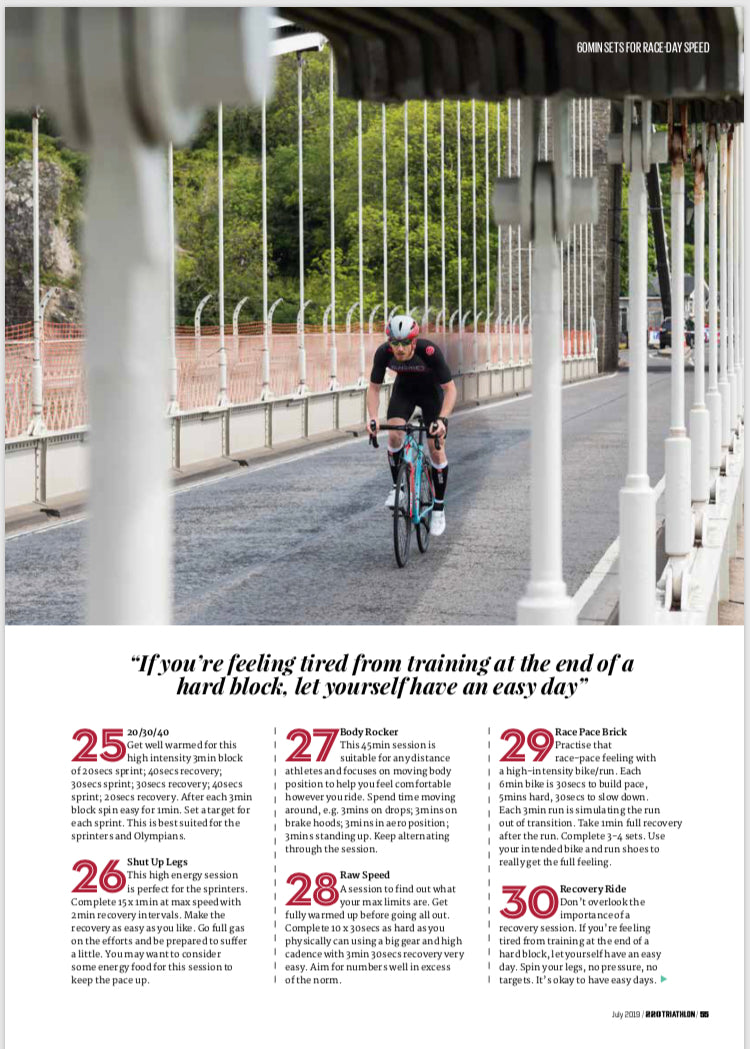 Tri 220 Training for Triathlon Magazine featuring Sundried Ambassador