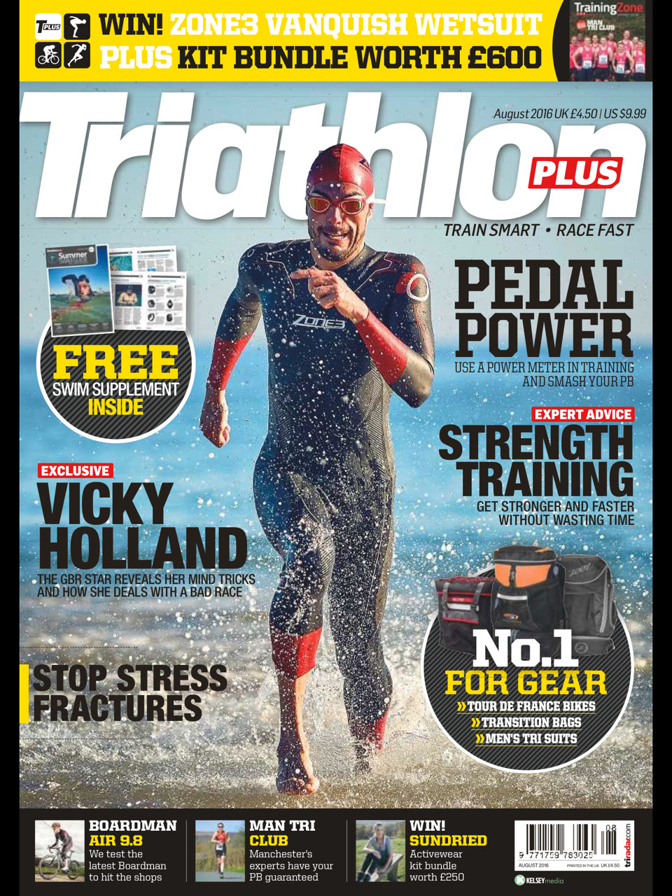 Triathlon Plus August Cover
