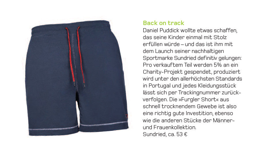 Vegan Magazine Featuring Sundried Shorts