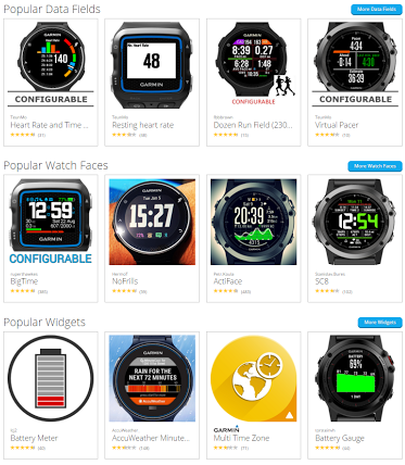 Garmin Watch Faces and Widgets